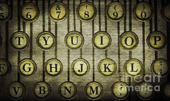 Typewriter Keys by Cindi Ressler