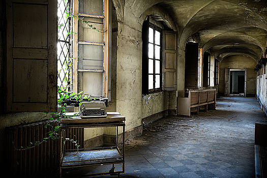 Typewriter Story Of Abandoned Building - Urbex Exploration by Dirk Ercken