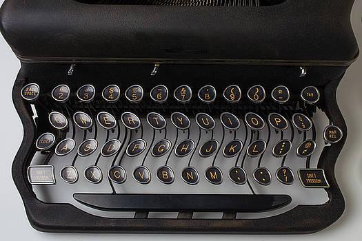 Typewrter Wavy Keys by Garry Gay