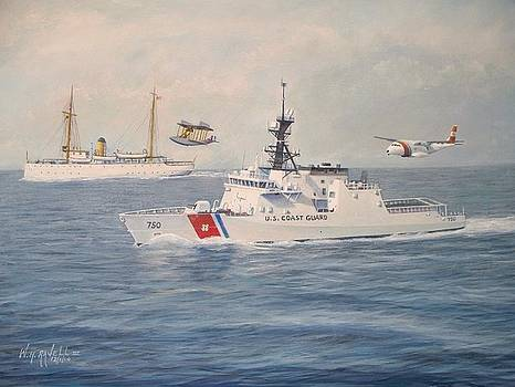 U. S. Coast Guard Then And Now by William H RaVell III
