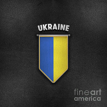 Ukraine Pennant with high quality leather look by Carsten Reisinger