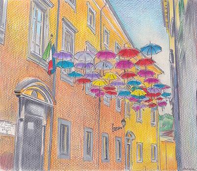 Umbrella Parade by Daniela Johnson