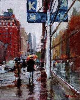 Umbrellas on Amsterdam Aveune by Peter Salwen