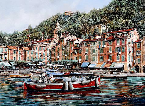 Una Lunga Barca Rossa by Guido Borelli