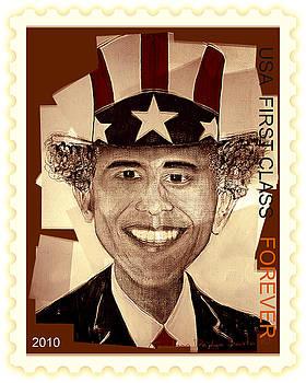 UNCLE BAM  Postage Stamp by Teodoro De La Santa