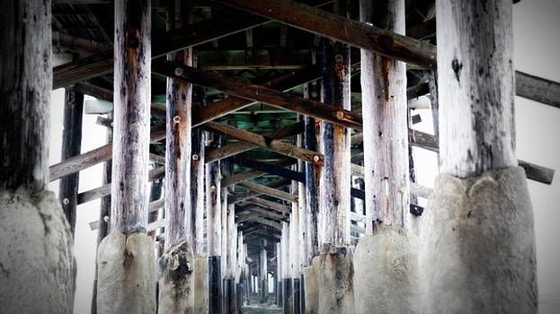 Under the boardwalk by Laurie Pike