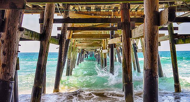 Under The Pier - San Clemente - California by Bruce Friedman