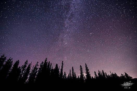 Under the stars - Barrier Lake by Adnan Bhatti