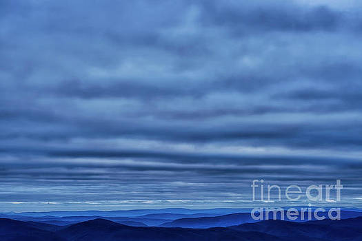 Undulations Clouds and Mountains by Thomas R Fletcher