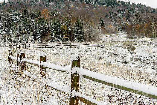 Unexpected Autumn Snow Highland Scenic Highway by Thomas R Fletcher