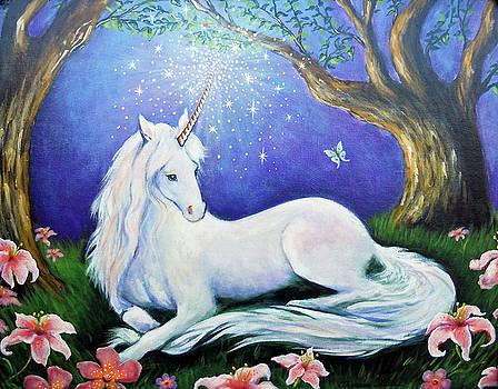 Unicorn Art Incantation by Theresa Stites