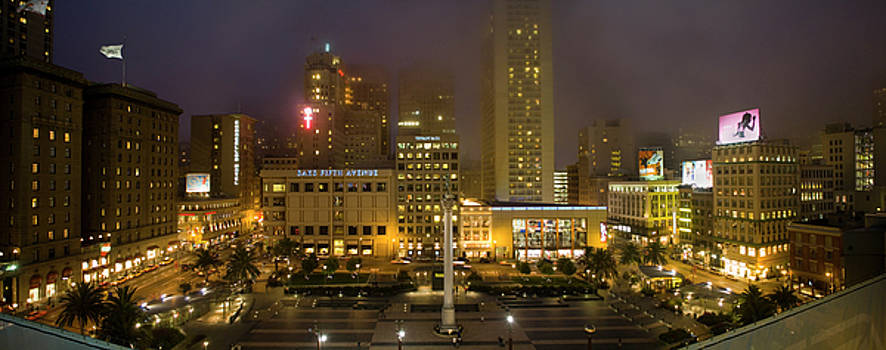 Union Square at Night by Mark Wagoner