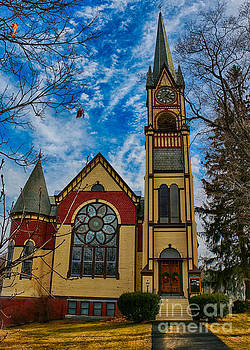 United Baptist Church Lakeport N H by Mim White
