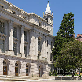 Wingsdomain Art and Photography - University of California Berkeley Historic Ide Wheeler Hall South Hall and The Campanile DSC4066 sq