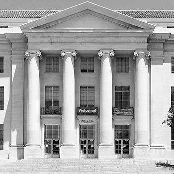 Wingsdomain Art and Photography - University of California Berkeley Historic Sproul Hall at Sproul Plaza DSC4081 square bw