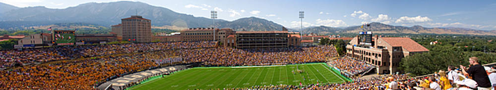 University of Colorado Boulder Folsom Field Game Panorama by James BO  Insogna