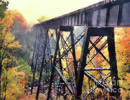 Upper Peninsula Train Trestle by Phil Perkins