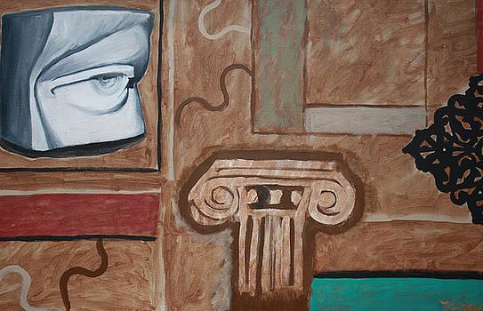 Urban Pop Art Paintings-Davids Eye by Mikayla Ziegler