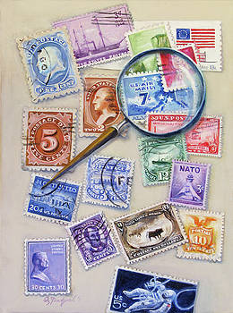 U.S. Stamp Collection by Oz Freedgood