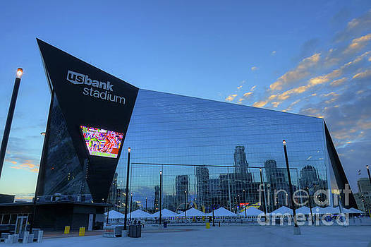 USBank Stadium Morning by Wayne Moran