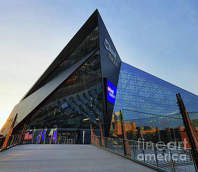 USBank Stadium The Approach by Wayne Moran