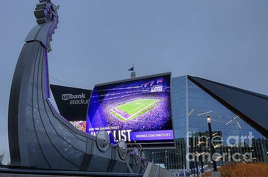 USBank Stadium Viking Ship by Wayne Moran