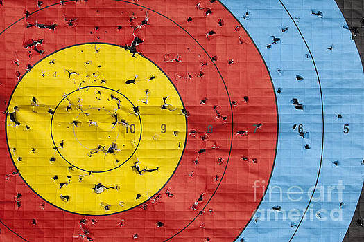 Used archery target close up by Simon Bratt Photography LRPS