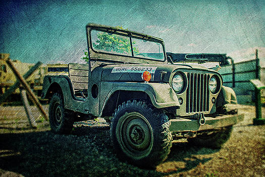USMC Jeep in Color by Emily Kay