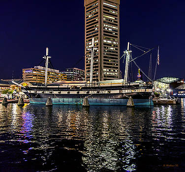 USS Constellation - At Night by Brian Wallace