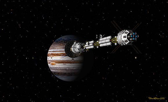 USS Savannah approaching Jupiter by David Robinson
