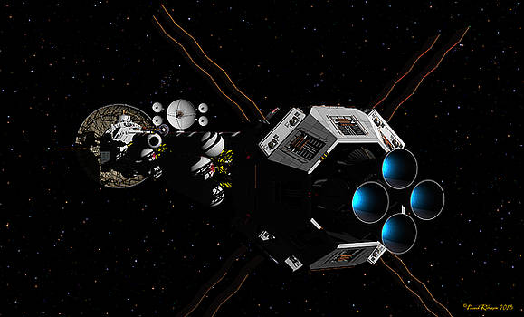 USS Savannah in deep space by David Robinson