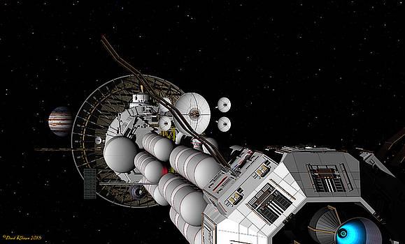 USS Savannah nearing Jupiter by David Robinson