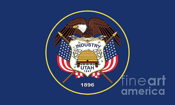 Utah State flag authentic version by Bruce Stanfield