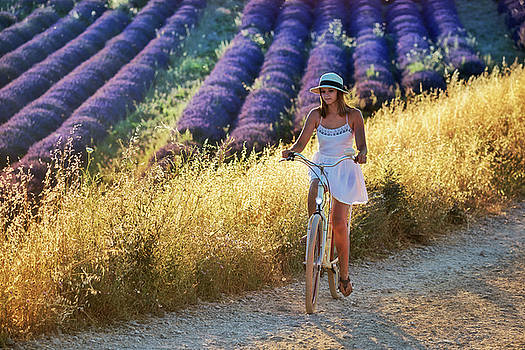 Valensole Girl by Christian Heeb