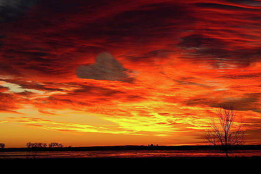 James BO  Insogna - Valentines Day Sunrise Love in the Clouds Nature Image