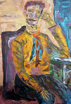 Van Gogh thinks about ear by Aleksandr Volkov