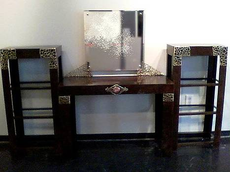 Vanity set with Shelves by Don Thibodeaux