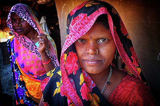 Varanasi Village women by David Longstreath