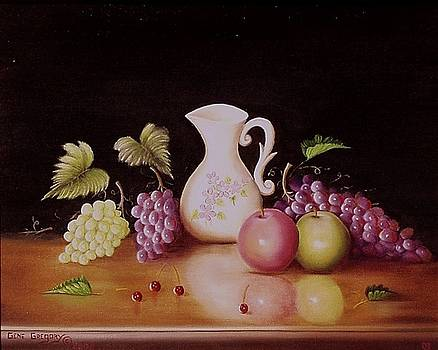 Vase and fruit by Gene Gregory