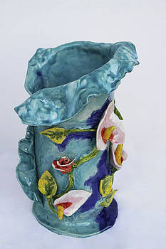 Vase, Rose Calla by Itzhak Richter