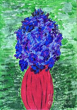 Vase with flowers by Nancy Pace
