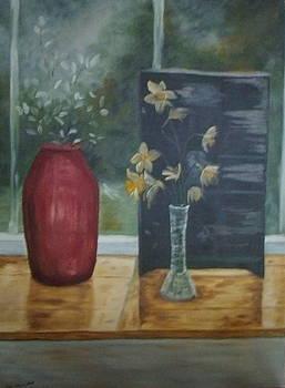Vases in Window by Ann Kleinpeter