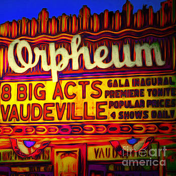 Wingsdomain Art and Photography - Vaudeville Night At The Orpheum Theater 20151222 square
