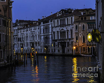 Venetian Canal At Twilight by Steve Rowland