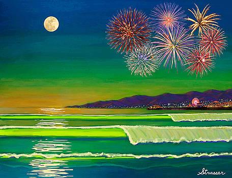 Venice Beach Celebration  by Frank Strasser