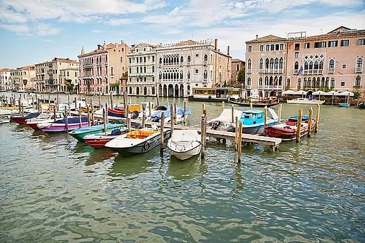 Venice Boats by Sharon Jones