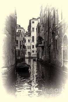 Venice Canal- Old Style Photograph  by Steve Rowland