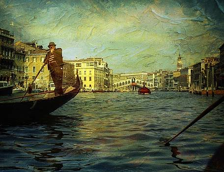 Venice Gondolier by Anne Thurston