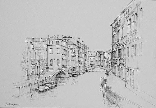 Venice Rio del Carmini by Dai Wynn