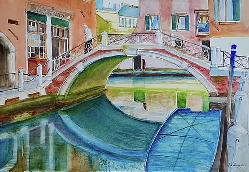 Venice Sunlit Canal by Dai Wynn